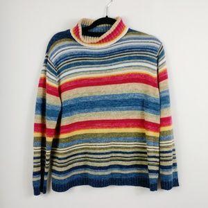 Tiara Oversized Sweater Striped Chunky Knit